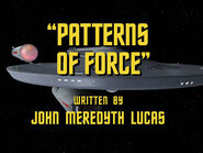 2x23 Patterns of Force title card