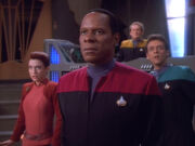 Kira, Sisko, O'Brien, and Bashir, 2370