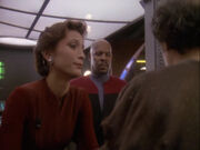 Sisko Kira sprechen Akorem Laan