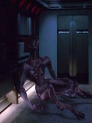 Spezies 8472 in einem Korridor der USS Voyager