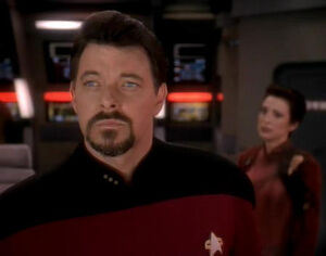 Thomas Riker on defiant bridge