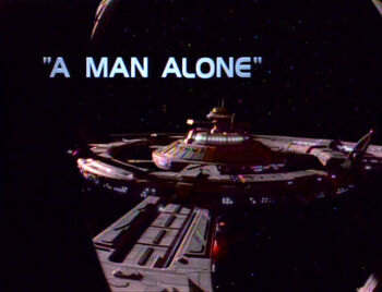 A Man Alone title card