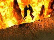 Sisko and Dukat Fire Caves