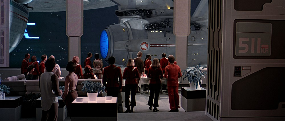 Earth spacedock cafeteria