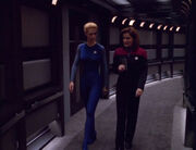 Janeway and Seven discuss diplomacy