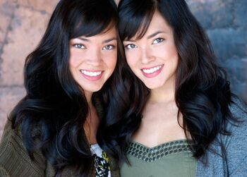 Katie with her twin sister Kellie