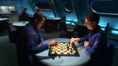Malcolm und Travis Schachpartie
