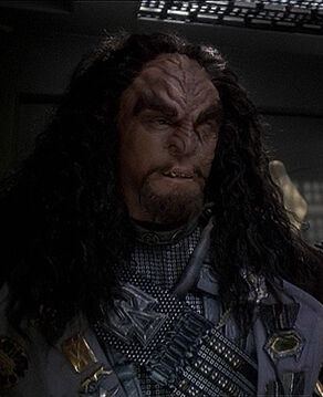 Martok, Chancellor of the Klingon High Council, in 2375