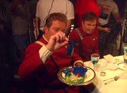 Shatner und Koenig beim Essen