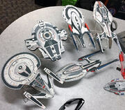 Star Trek Online starship miniatures