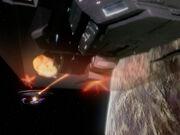 USS Enterprise-D fires on warship