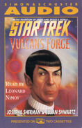 Vulcan's Forge audiobook cover, US cassette edition