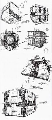 Borg tactical cube design sketches by Doug Drexler