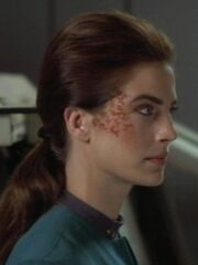 Jadzia Dax frühes Make-Up