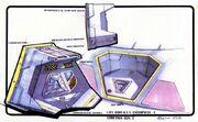 Sovereign type escape pod design by Alex Jaeger