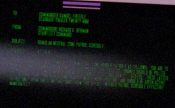 Richard K. Berman on a Starfleet Command order