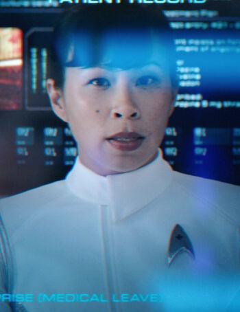 ...as a Starfleet Psychiatrist.