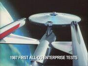 USS Enterprise TNG evalution finalized CGI model, aft total view