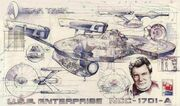 AMT 1995 30th anniversary cutaway poster USS Enterprise-A