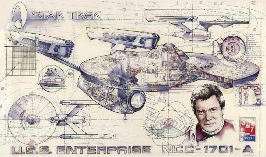 image amt 1995 30th anniversary cutaway poster uss enterprise a
