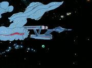 Die Enterprise-Attrappe wurde zerstört