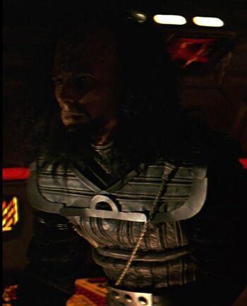 ...as a Klingon helmsman