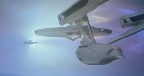 USS Enterprise faces off with the USS Reliant in the Battle of the Mutara Nebula.jpg