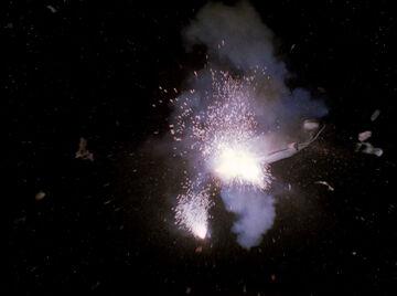 USS Enterprise-D explodes, 2368-HD