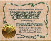 Certificat d'excellence Maurice Picard 2305