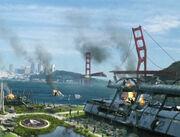 San Francisco attacked
