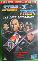 TNG Man of the People Relics Schisms True Q UK rental video cover
