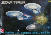 AMT Model kit 3-piece USS Enterprise Set 1999