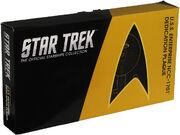 Eaglemoss USS Enterprise Dedication Plaque packaging