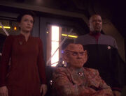 Kira, Quark, and Sisko, 2373