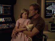 Annika Hansen und ihr Vater