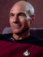 Beta-Renner-Wesen im Körper von Jean-Luc Picard