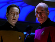 Data and Picard, alternate timeline
