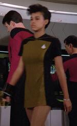 Enterprise-D crewmember with bracelet