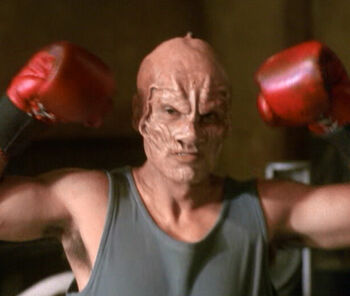 ... as the holographic alien boxer