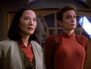 Keiko O'Brien and Kira Nerys, 2369