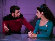 Riker worried at trial