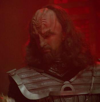 ...as a holographic Klingon