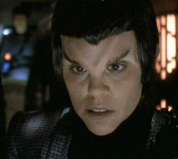 ...as a Romulan pilot