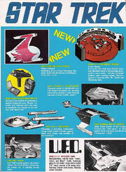 Star Trek AMT 1975 catalog