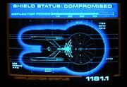 Deflector status display, Constitution class