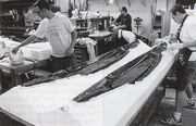 Son'a collector break-away ship model cast under contruction by the crew of Hunter-Gratzner