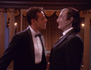 Julian Bashir and Elim Garak in holosuite