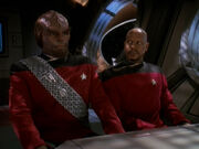 Worf and Sisko, Rules of Engagement