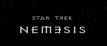 Title card for Star Trek Nemesis
