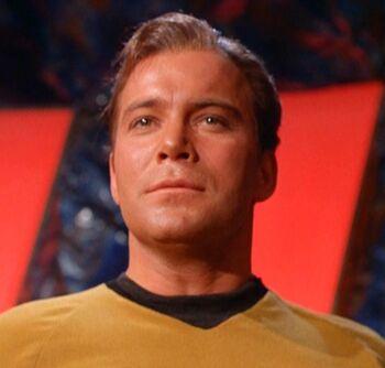 Sargon inhabiting the body of Captain Kirk